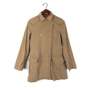 Theory medium trench coat jacket winter peacoat